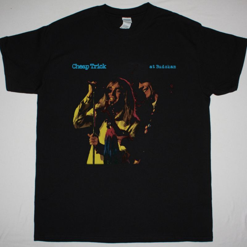 CHEAP TRICK LIVE AT BUDOKAN 1978 NEW BLACK T-SHIRT