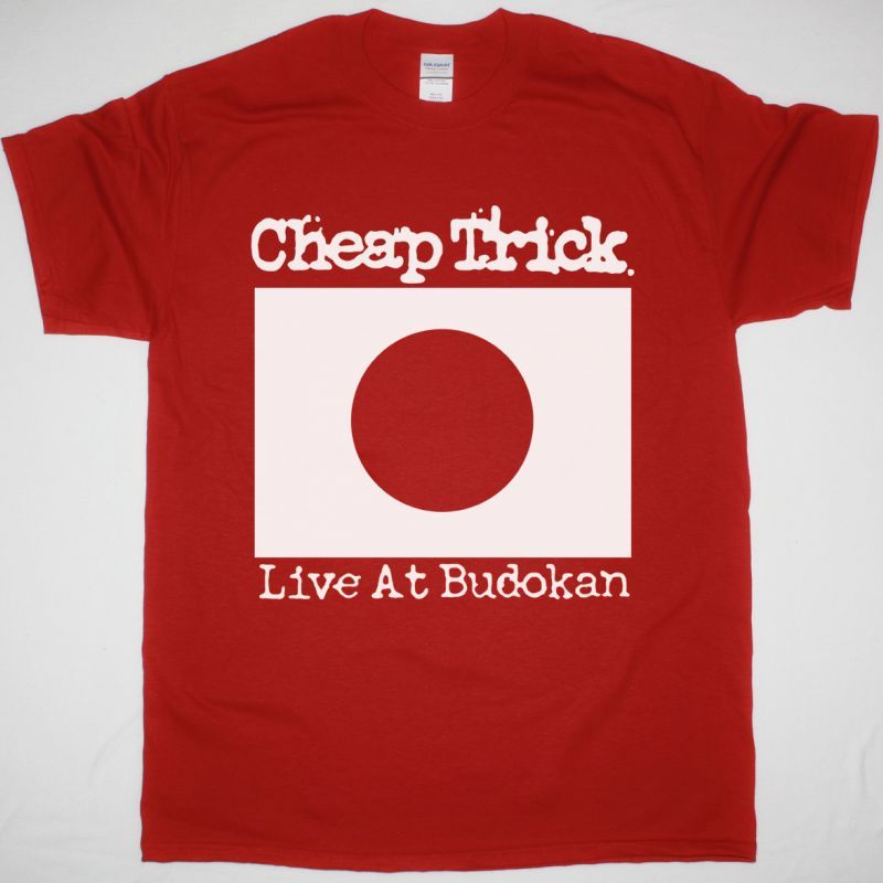 CHEAP TRICK LIVE AT BUDOKAN JAPAN FLAG  NEW RED T-SHIRT