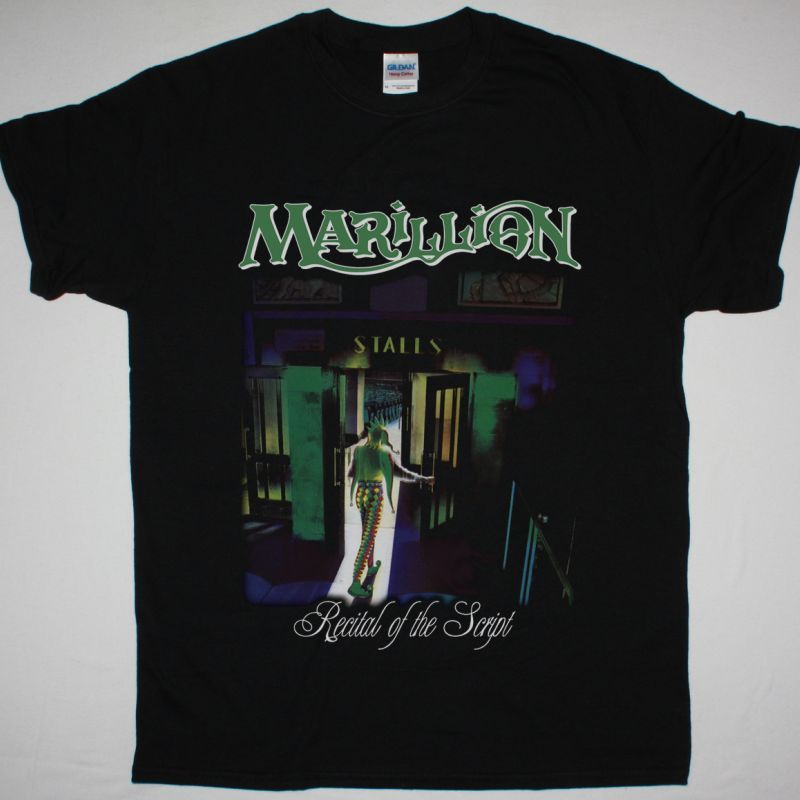 MARILLION RECITAL OF THE SCRIPT NEW BLACK T-SHIRT
