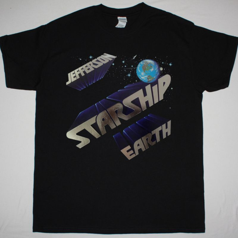 JEFFERSON STARSHIP EARTH 1978 NEW BLACK T-SHIRT