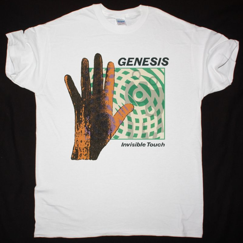 GENESIS INVISIBLE TOUCH 1986 NEW WHITE T-SHIRT