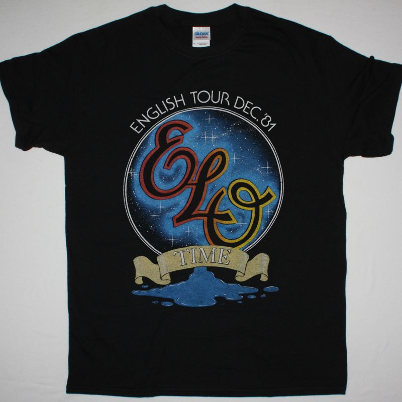 ELECTRIC LIGHT ORCHESTRA TIME TOUR 81 NEW BLACK T-SHIRT