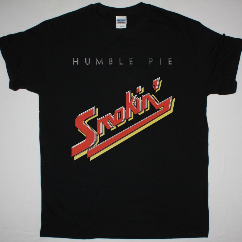 HUMBLE PIE SMOKIN' NEW BLACK T-SHIRT