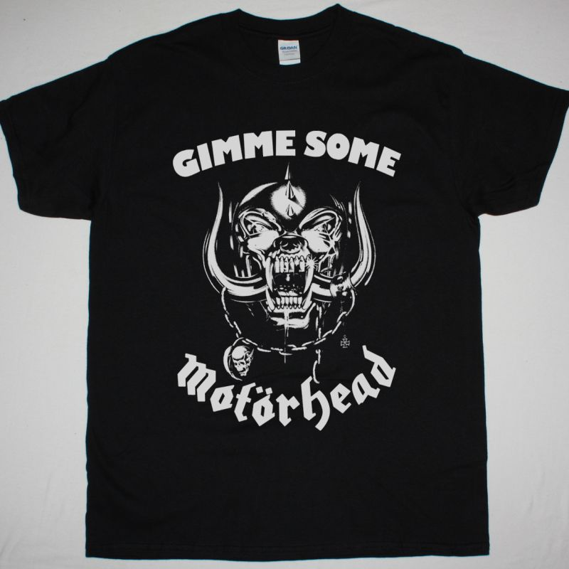 MOTORHEAD GIMME SOME MOTÖRHEAD NEW BLACK T-SHIRT