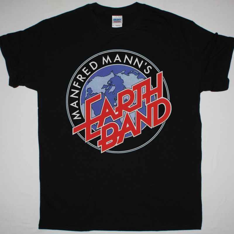 MANFRED MANN'S EARTH BAND LOGO NEW BLACK T-SHIRT