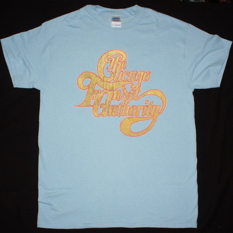 CHICAGO THE CHICAGO TRANSIT AUTHORITY NEW LIGHT BLUE T-SHIRT