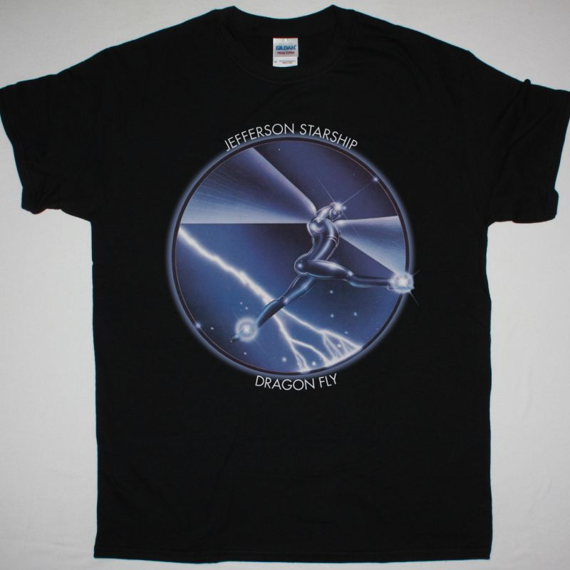 JEFFERSON STARSHIP DRAGON FLY 1974 NEW BLACK T-SHIRT