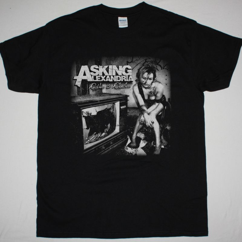 ASKING ALEXANDRIA RECKLESS & RELENTLESS NEW BLACK T-SHIRT