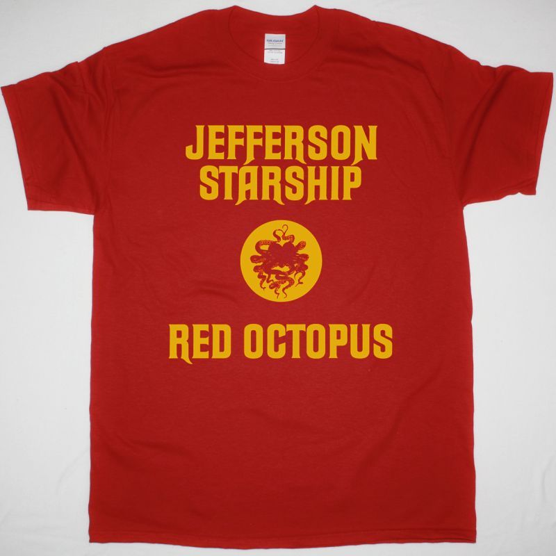 JEFFERSON STARSHIP RED OCTOPUS 1975 NEW RED T-SHIRT