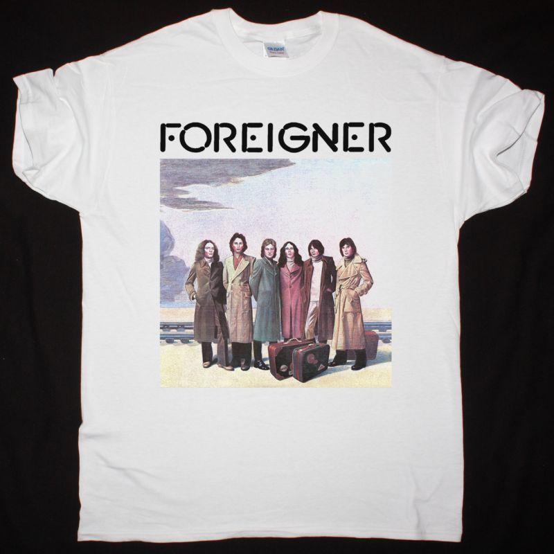 FOREIGNER 1977 NEW WHITE T-SHIRT