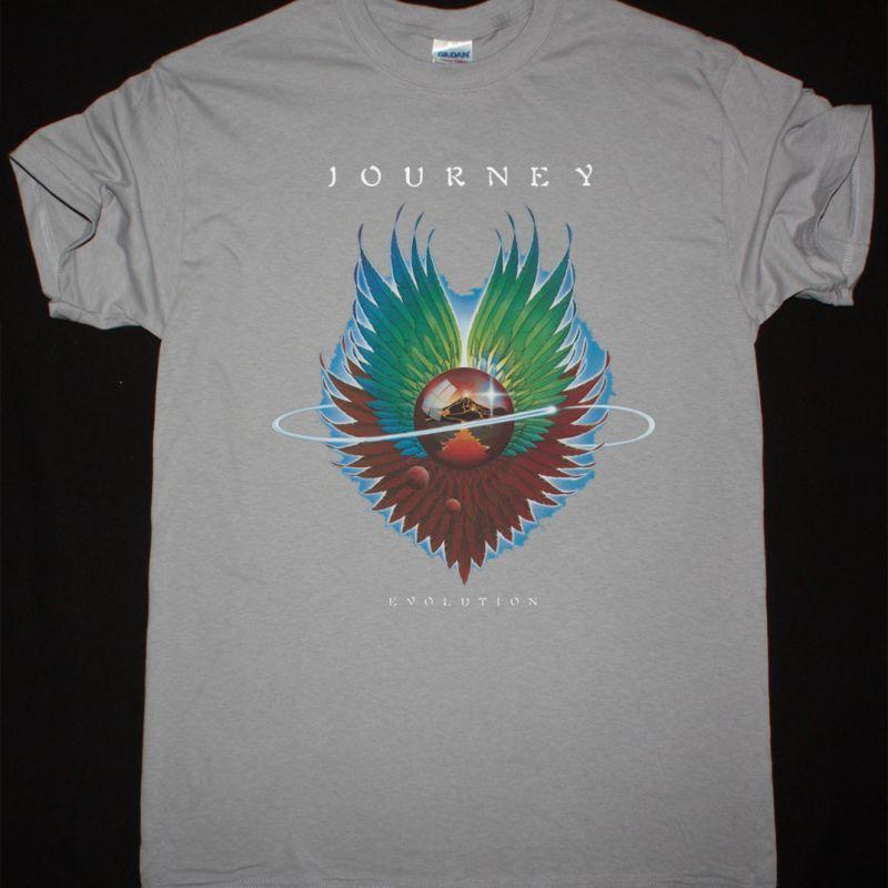 JOURNEY EVOLUTION 1979 NEW LIGHT GREY T-SHIRT
