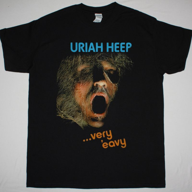 URIAH HEEP VERY 'EAVY... VERY 'UMBLE 1970 NEW BLACK T-SHIRT
