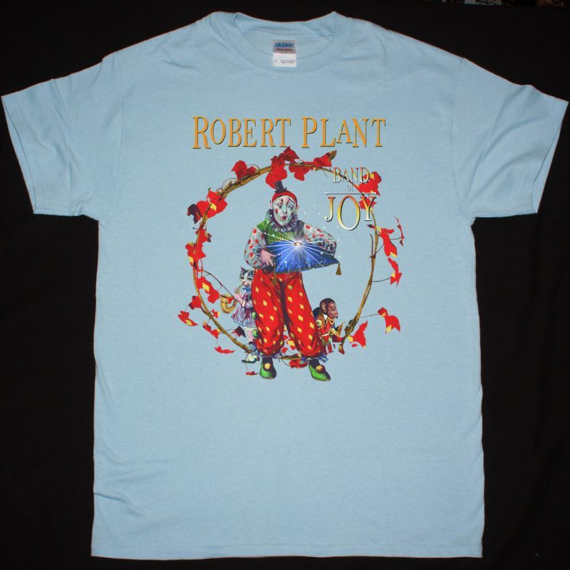 ROBERT PLANT BAND OF JOY NEW LIGHT BLUE T SHIRT