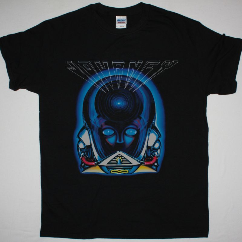 JOURNEY FRONTIERS 1983 NEW BLACK T-SHIRT