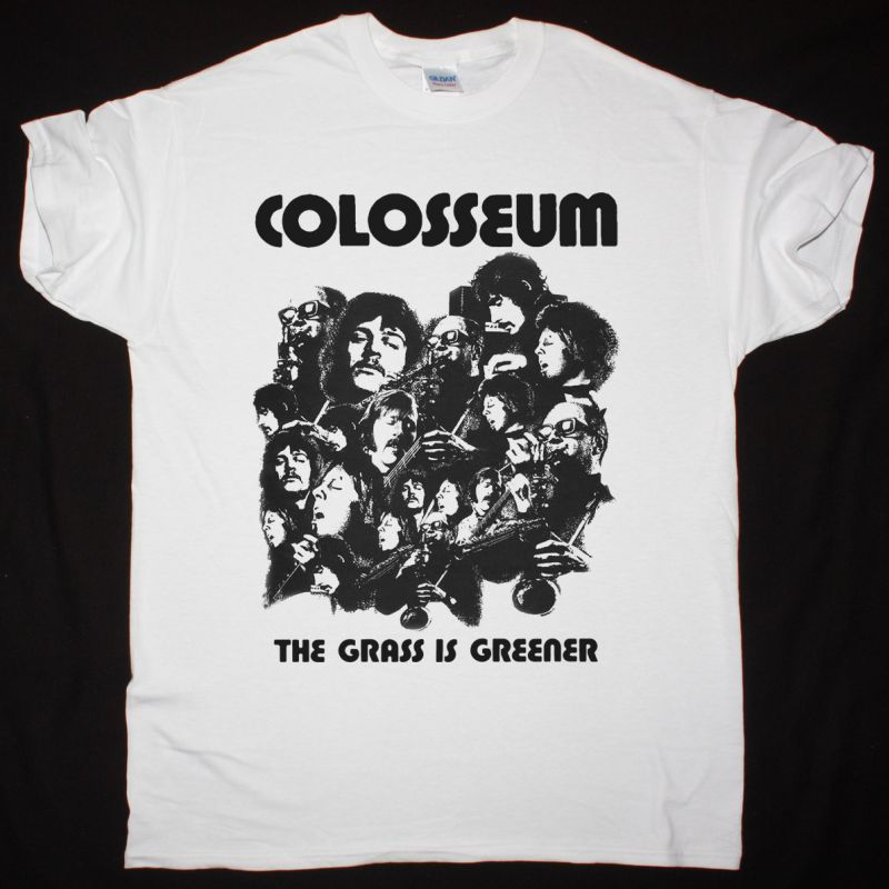 COLOSSEUM THE GRASS IS GREENER 1970 NEW WHITE T-SHIRT