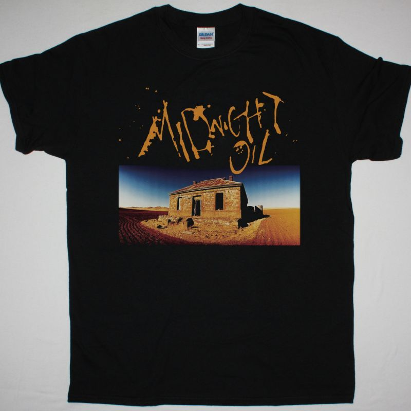 MIDNIGHT OIL DIESEL AND DUST NEW BLACK T-SHIRT