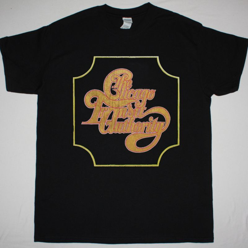 CHICAGO THE CHICAGO TRANSIT AUTHORITY NEW BLACK T-SHIRT