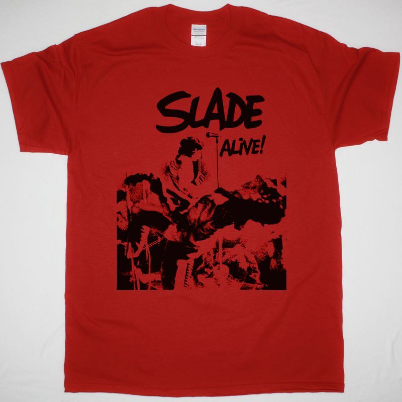 SLADE ALIVE NEW RED T-SHIRT