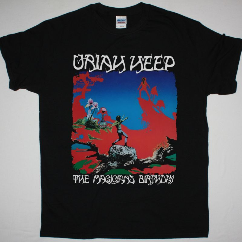 URIAH HEEP THE MAGICIAN'S BIRTHDAY 1972 NEW BLACK T-SHIRT
