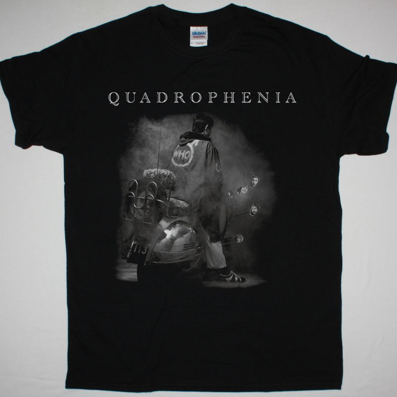THE WHO QUADROPHENIA 1973 NEW BLACK T SHIRT