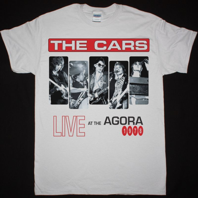 THE CARS LIVE AT THE AGORA 1978 NEW WHITE T-SHIRT