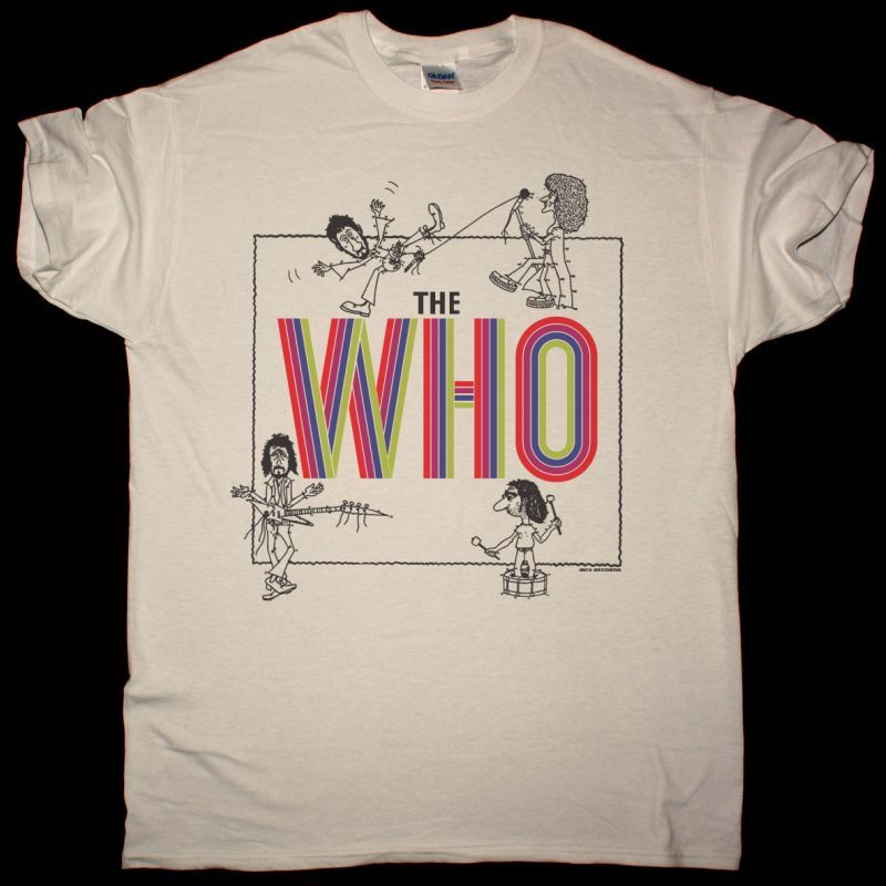 THE WHO BY NUMBERS VINTAGE NEW NATURAL T SHIRT