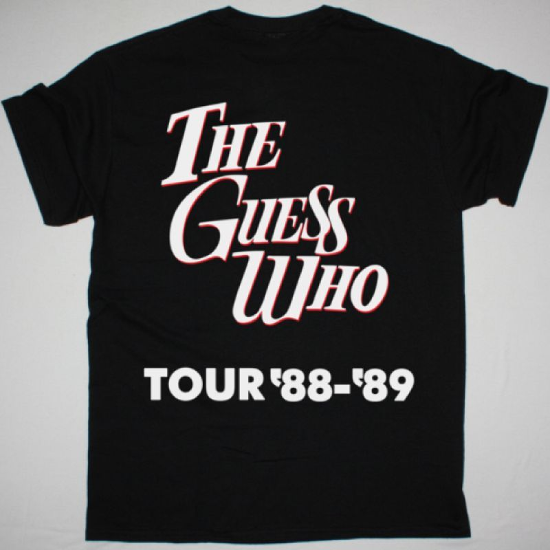 THE GUESS WHO TOUR 88-89 NEW BLACK T-SHIRT