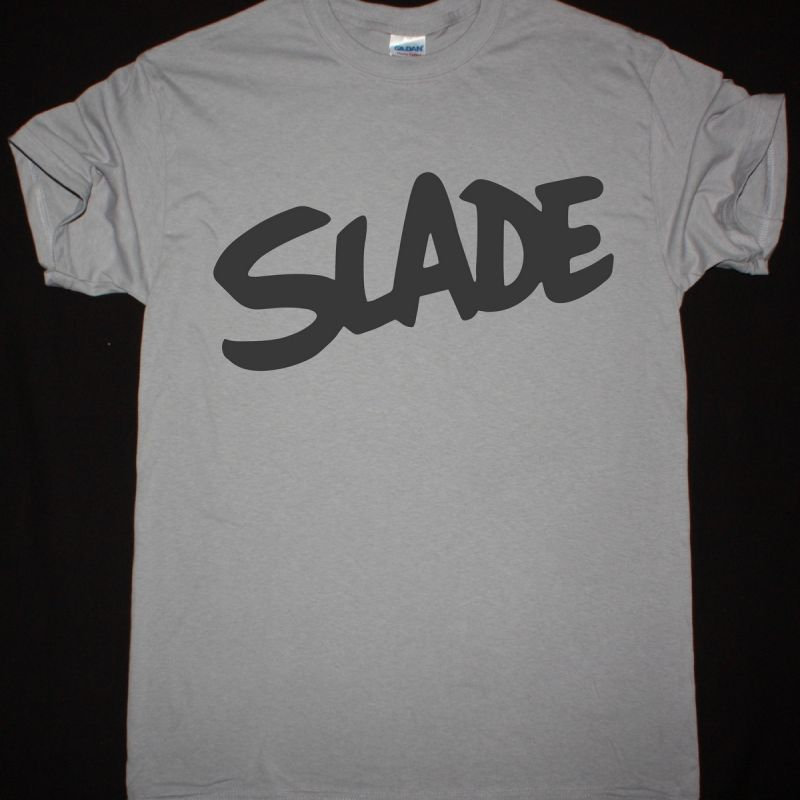 SLADE LOGO NEW LIGHT GREY T-SHIRT