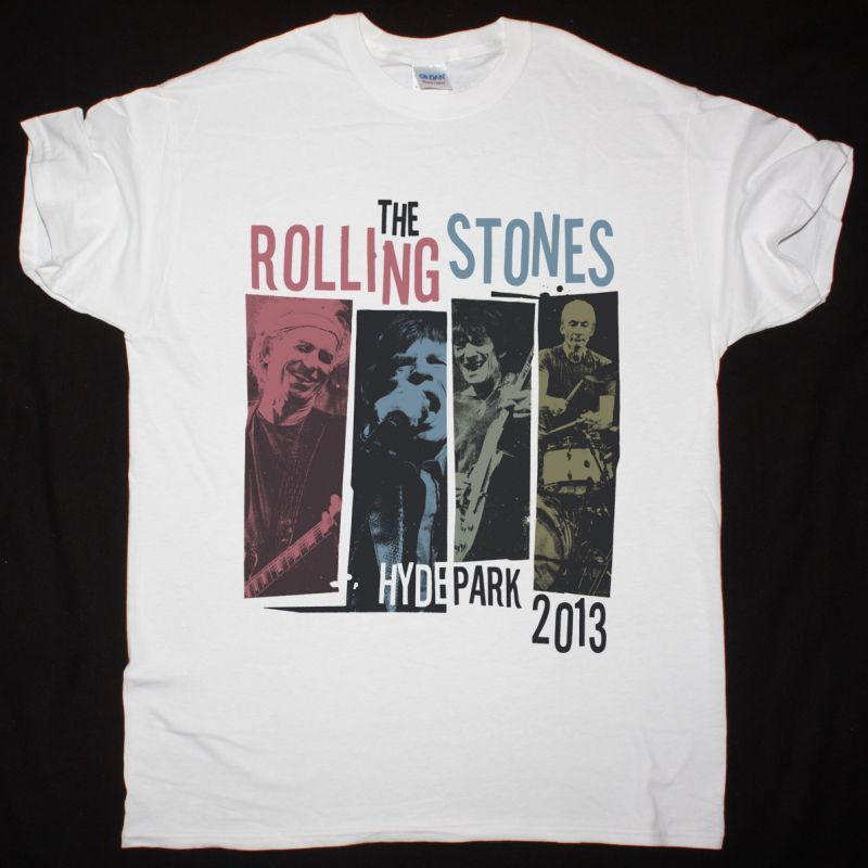 THE ROLLING STONES HYDE PARK 2013 NEW WHITE T-SHIRT
