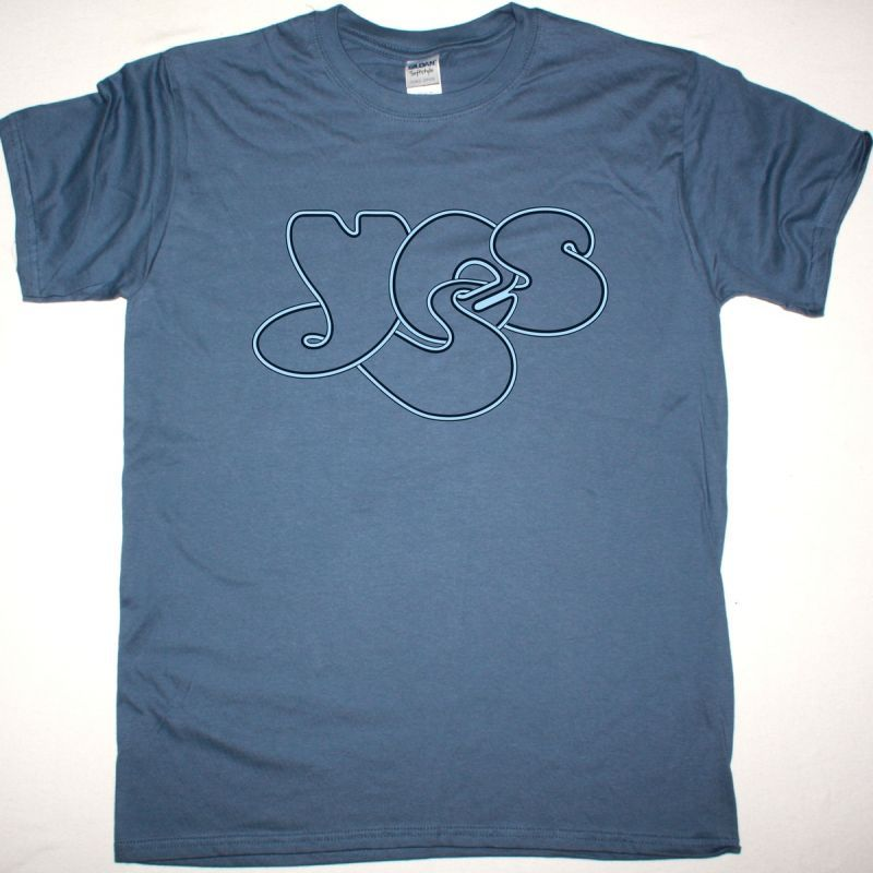 YES LOGO NEW INDIGO BLUE T-SHIRT