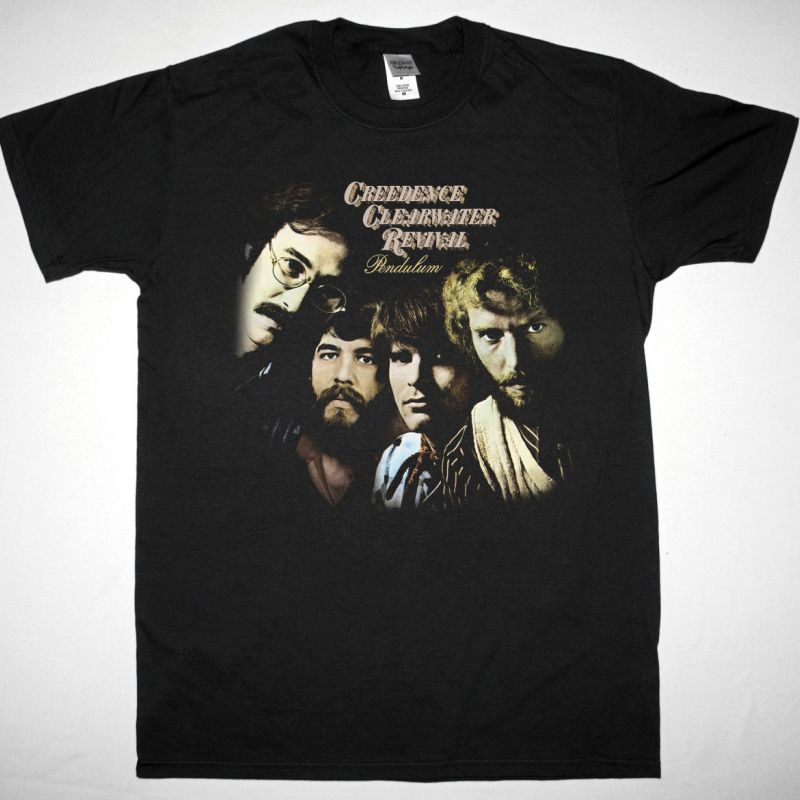 CREEDENCE CLEARWATER REVIVAL PENDULUM NEW BLACK T-SHIRT