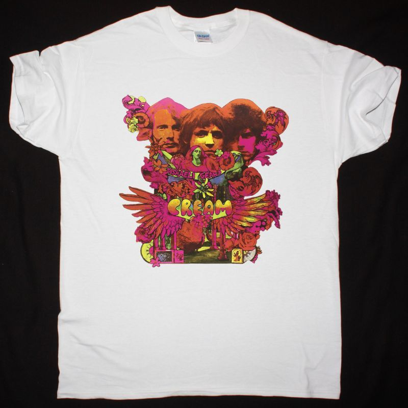 CREAM DISRAELI GEARS NEW WHITE T-SHIRT