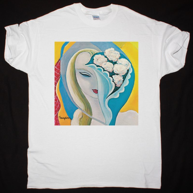 DEREK AND THE DOMINOS LAYLA AND OTHER ASSORTED LOVE SONGS NEW WHITE T-SHIRT