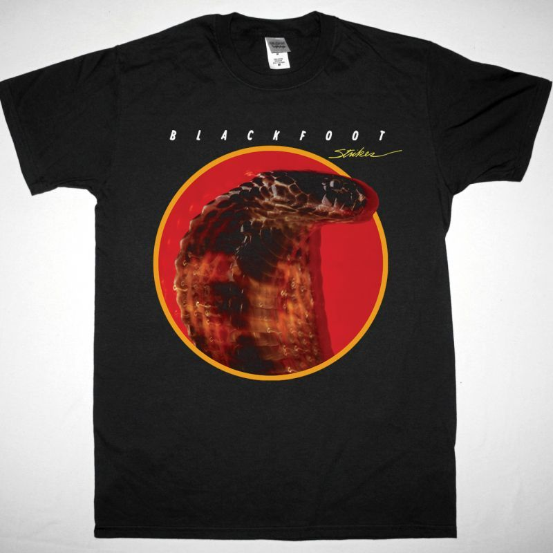 BLACKFOOT STRIKES 1979 NEW BLACK T SHIRT