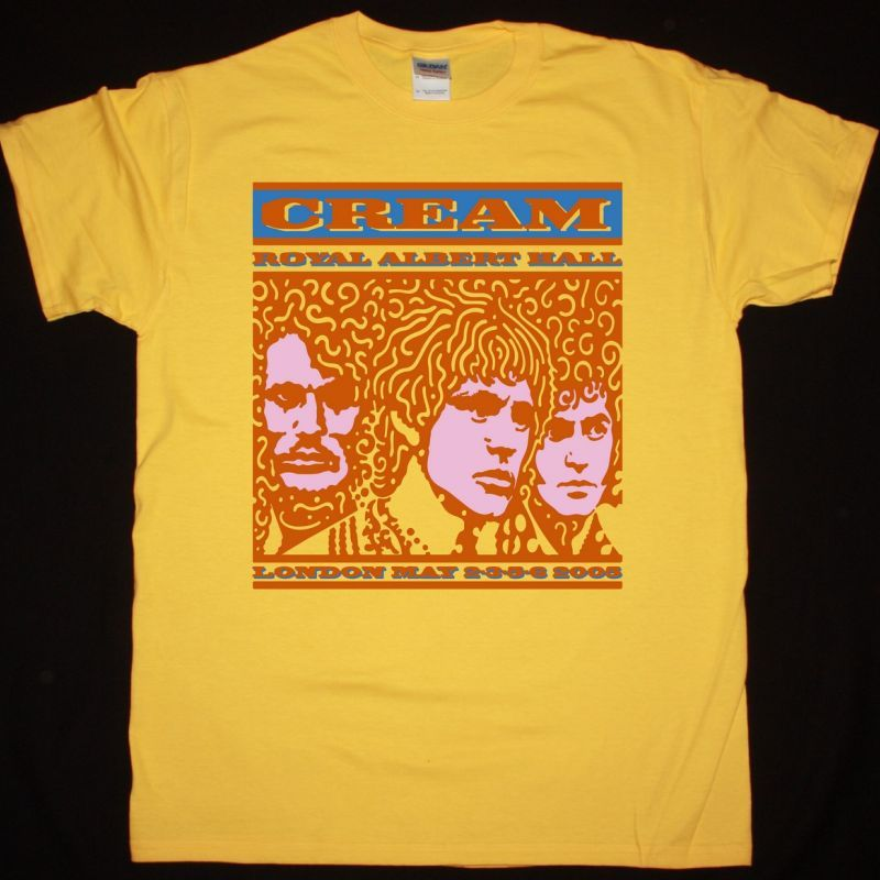 CREAM ROYAL ALBERT HALL NEW YELLOW T-SHIRT
