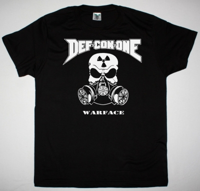 DEF CON ONE WARFACE NEW BLACK T SHIRT