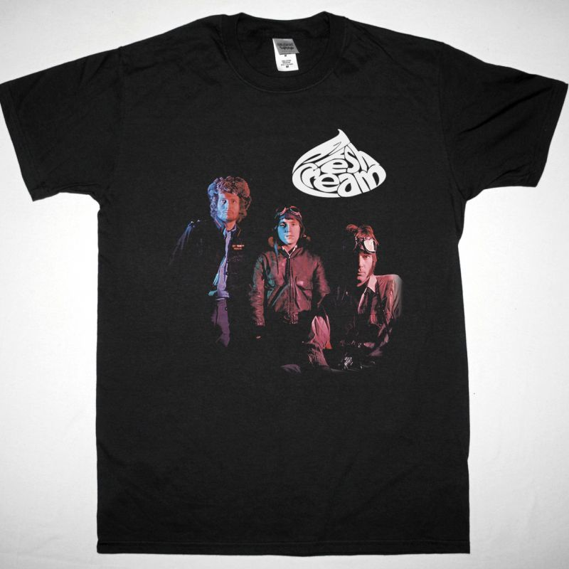 CREAM FRESH CREAM 1966 NEW BLACK T-SHIRT