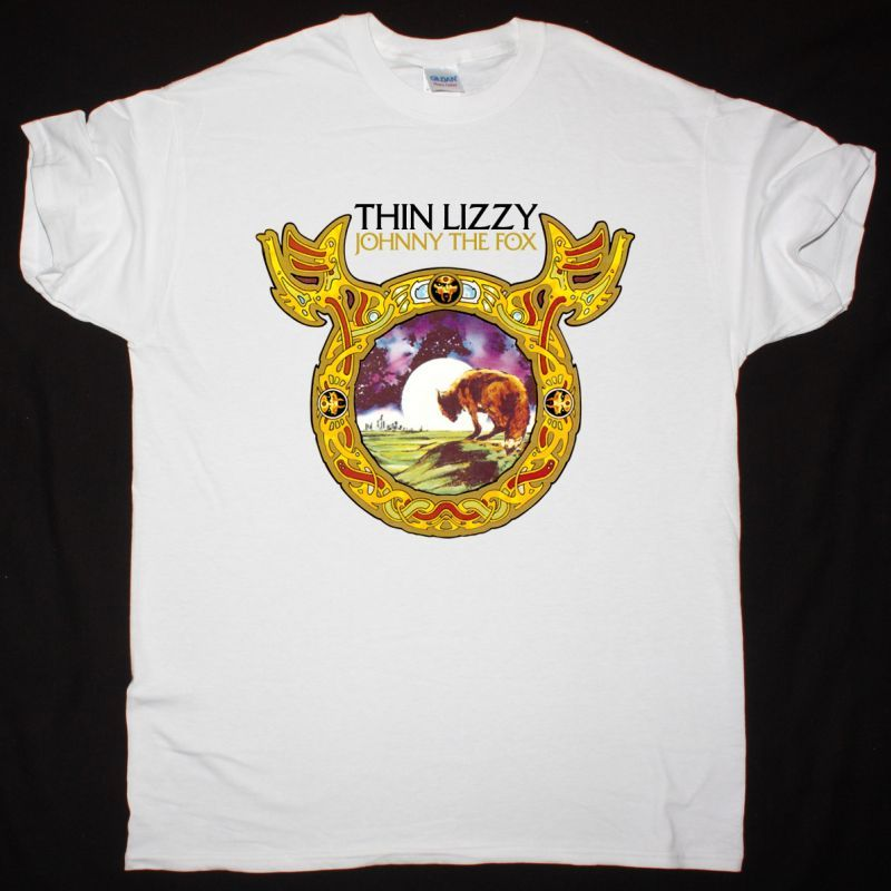 THIN LIZZY JOHNNY THE FOX 1976 NEW WHITE T-SHIRT
