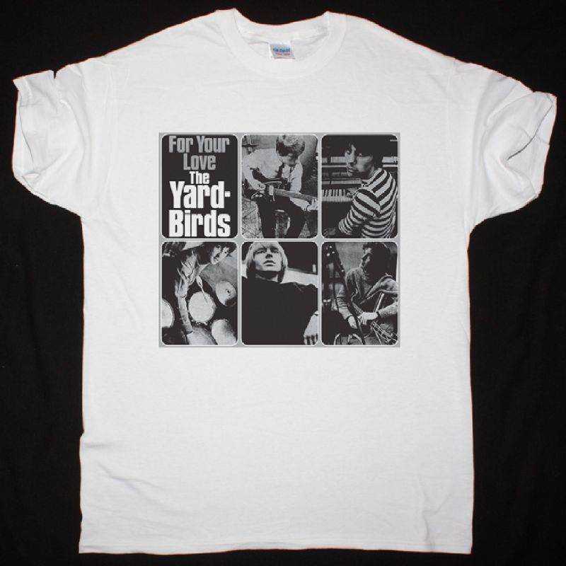 THE YARDBIRDS FOR YOUR LOVE 1965 NEW WHITE T SHIRT