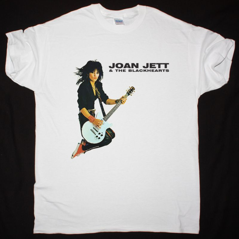 JOAN JETT  & THE BLACKHEARTS ALBUM 1983 NEW WHITE T-SHIRT