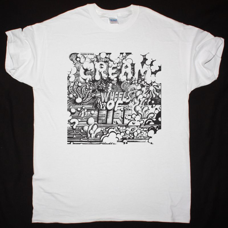 CREAM WHEELS OF FIRE 1968 NEW WHITE T-SHIRT