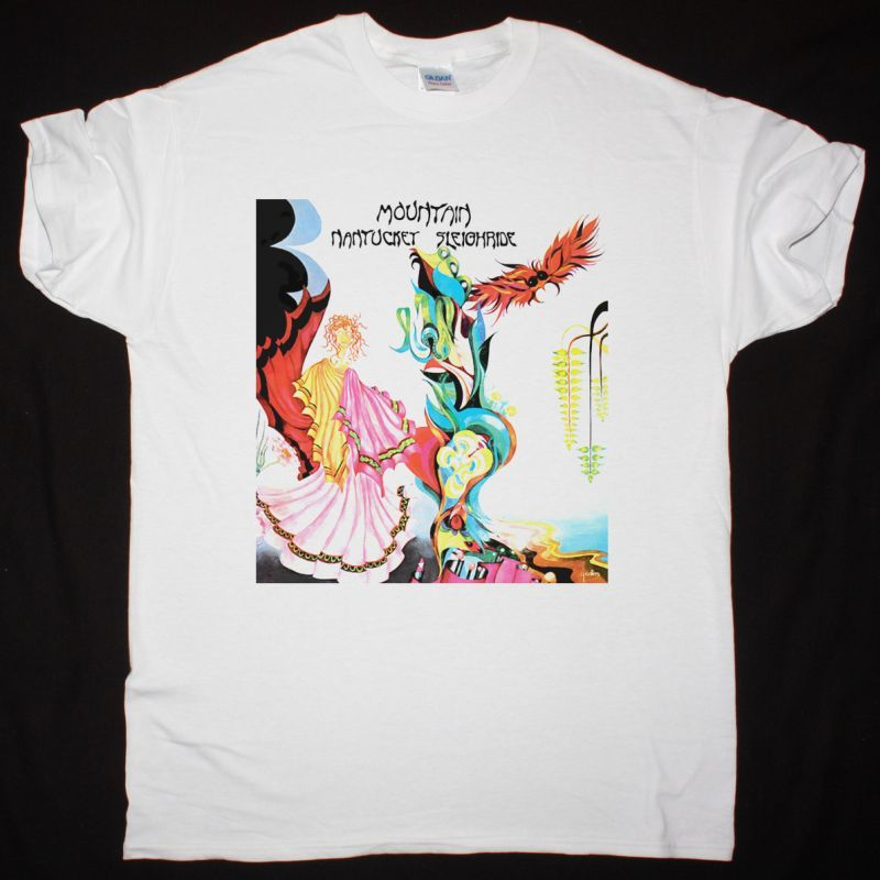 MOUNTAIN NANTUCKET SLEIGHRIDE 1971 NEW WHITE T SHIRT