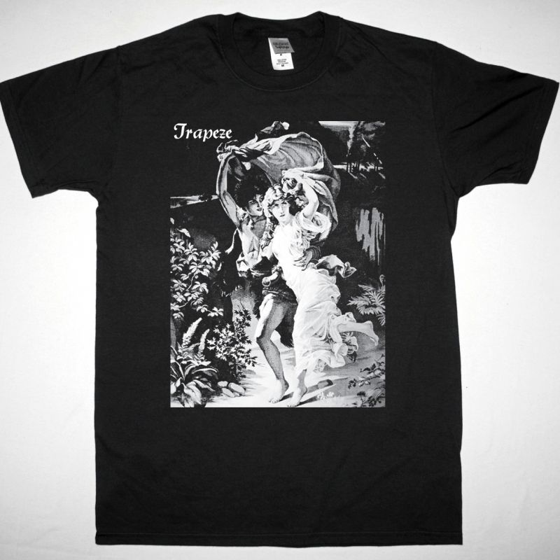 TRAPEZE 1970 NEW BLACK T-SHIRT