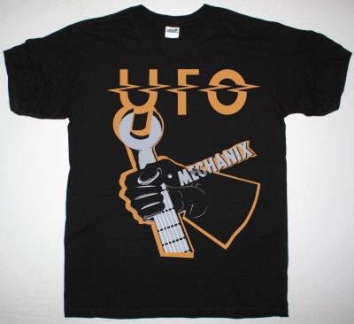 UFO MECHANIX NEW BLACK T-SHIRT