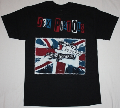 SEX PISTOLS ANARCHY IN THE UK NEW BLACK T-SHIRT