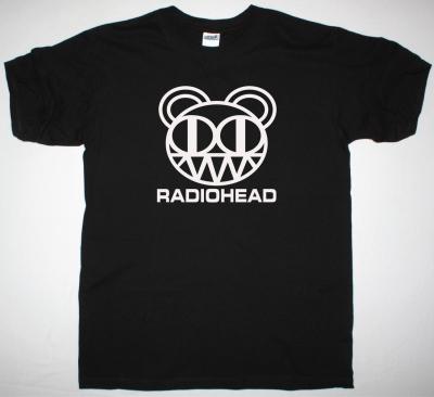 RADIOHEAD KID A BEAR NEW BLACK T-SHIRT