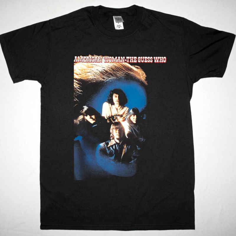 THE GUESS WHO AMERICAN WOMAN NEW BLACK T-SHIRT