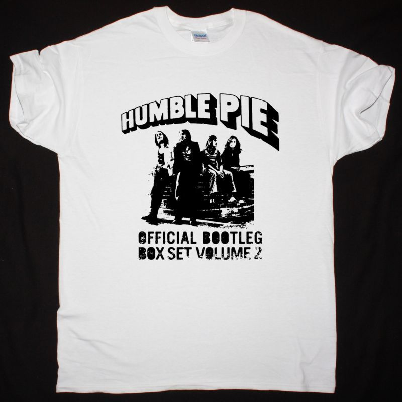 HUMBLE PIE BOOTLEG BOX SET NEW WHITE T-SHIRT