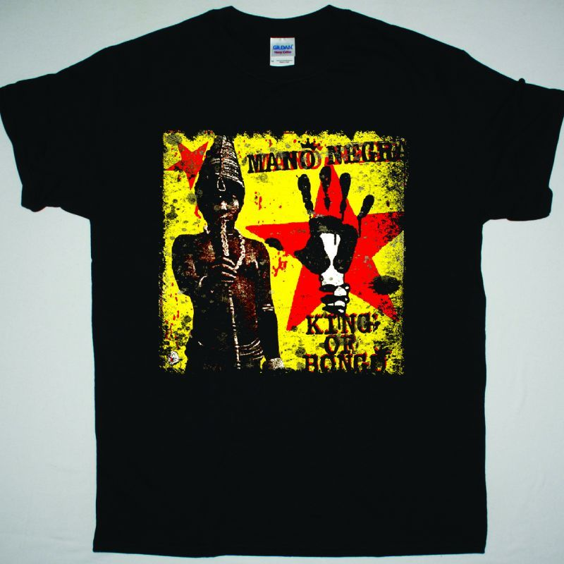 MANO NEGRA KING OF BONGO SHIRT NEW BLACK T-SHIRT