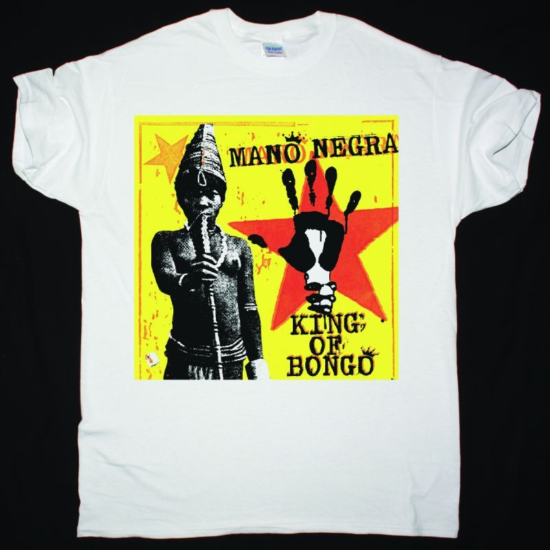 MANO NEGRA KING OF BONGO SHIRT NEW WHITE T-SHIRT